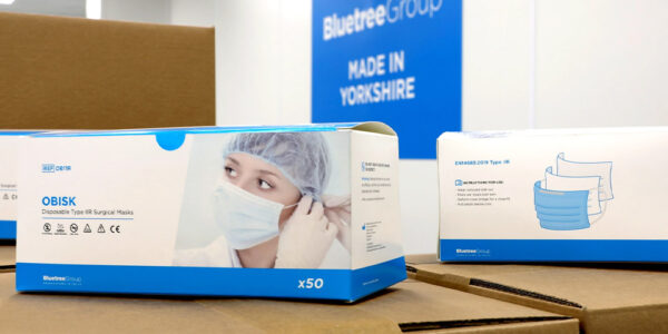 Bluetree pivots with new UK-made surgical mask offering with machines from DCG Medical
